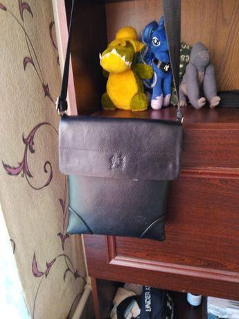 Продам кожаную мужскую сумочку и кожаный мужской клач