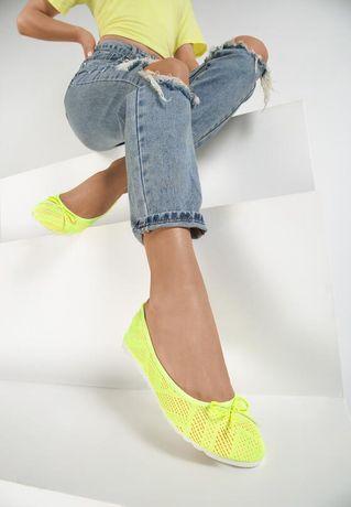 Obuwie damskie, buty balerinki nowe rozmiar 37