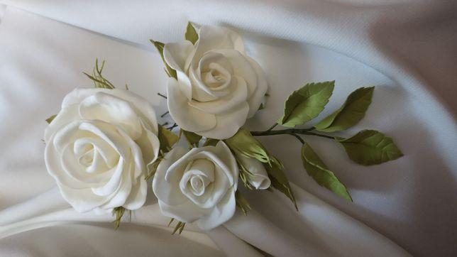 Цветы в прическу из фоамирана