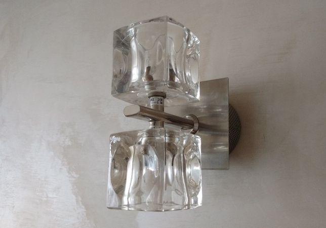 Kinkiet (stal chromowana/szkło)