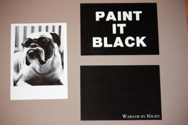 PAINT IT BLACK - pocztówki artystyczne x 4