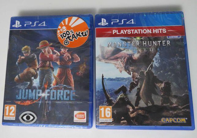 Pack de 2 Jogos para PS4, Jump Force e Monster Hunter NOVOS e SELADOS