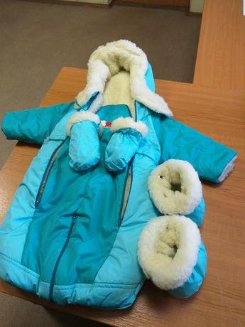 Продам дитячий комбінзон зимовий на овчині