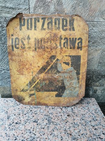 Stary szyld tabliczka
