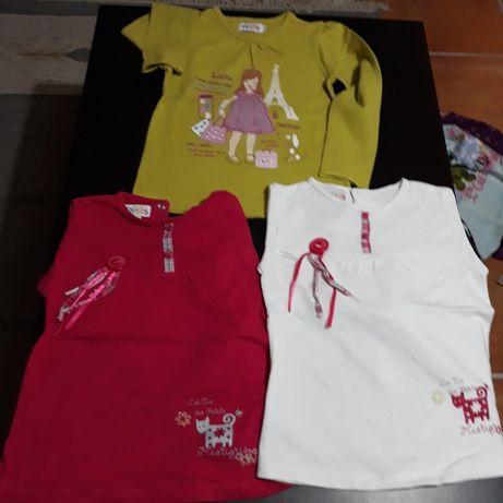 Conjunto de 11 blusas menina 3/4 anos