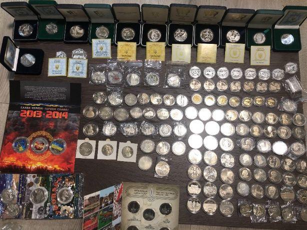 Колекція Украінських юбілейних монет 1996-2016 р 115 шт
