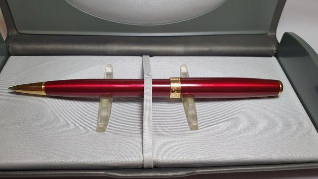 Ручка шариковая Parker SONNET Red Lacquer(женская, позолота). Оригинал