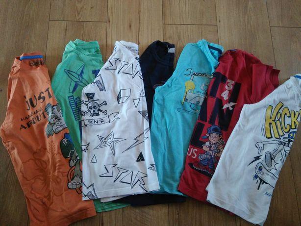 Zestaw ubrań (27szt) dla chłopaka 9-10 lat + gratis klocki oraz puzle