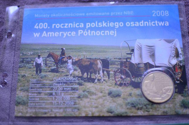 2zł Blister 400 rocznica polskiego osadnictwa w Ameryce Północnej