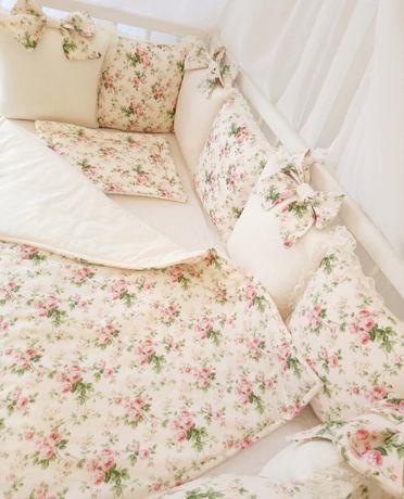 Бортики захист в ліжечко постіль балдахин кокон постель косичка