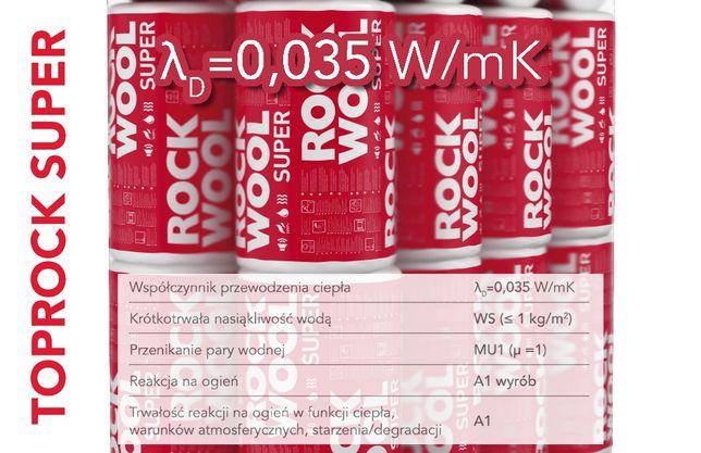 Wełna skalna mineralna Rockwool TopRock Super 200
