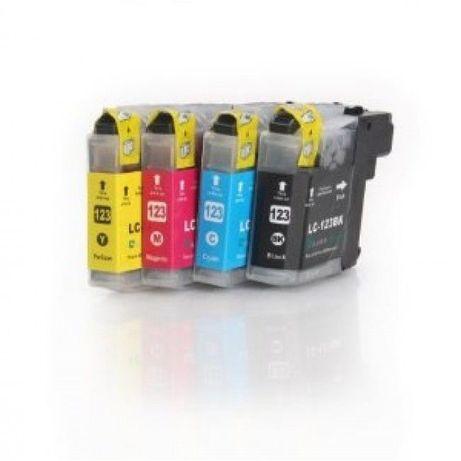 4 Tinteiros Compatíveis Brother LC121 / LC123 Portes gratis