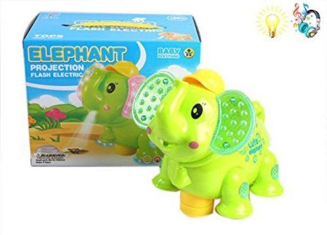 Interaktywny słoń na baterie
