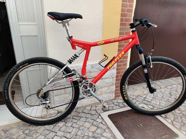 bicicleta btt pro-flex 956,  shimano xt, rock shock xc30