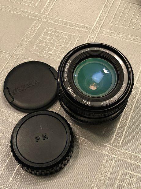 Obiektyw Sigma mini-wide II multi-coated macro 2.8/28mm PENTAX PK