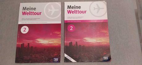 Meine Welttour 2 podręcznik [CD] oraz Zeszyt Ćwiczeń J.Niemiecki