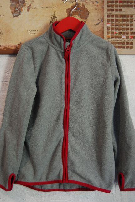 Rozpinana szara bluza z polaru polar Tchibo 134 140 kurtka polarowa