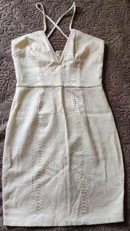 Платье с красивым декольте, под рептилию 34 36 s xs