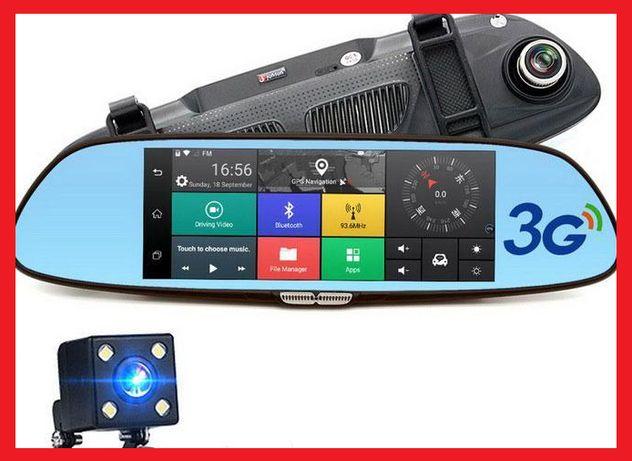 Зеркало-регистратор К36 Android 2 камеры Wi-Fi GPS Видеорегистратор Вс