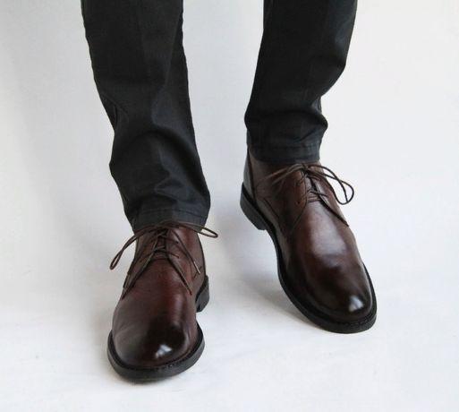 ботинки демисезонные кожаные Marks & Spencer. Barker,Bally,Loake