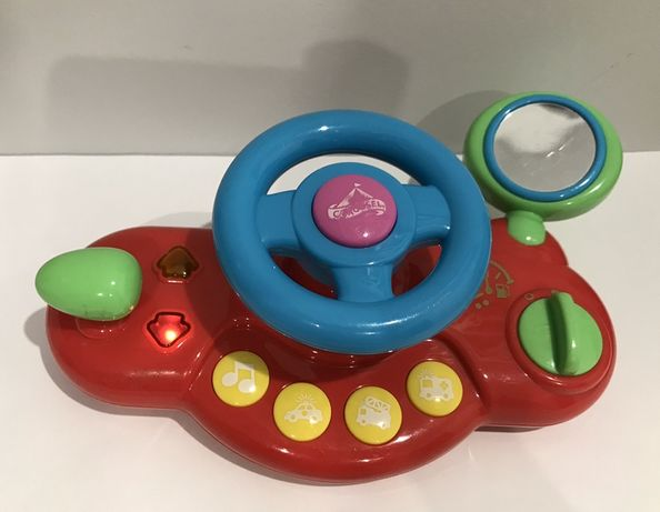 Kierownica interaktywna grająca świecąca na rzepy zabawka