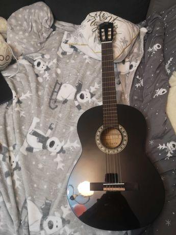 Gitara akustyczna czarna z pokrowcem!
