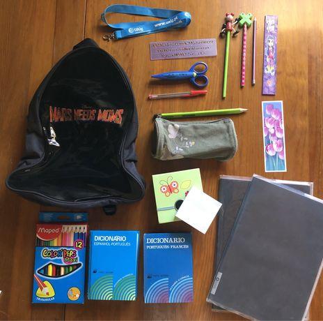 Pack material escolar + mochila - NOVO