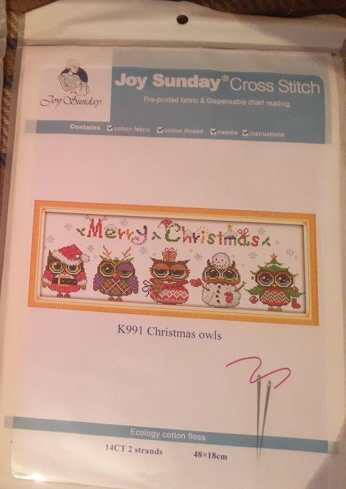 Новый набор для вышивки крестом  Joy sunday. Совы Кулиничи - изображение 1