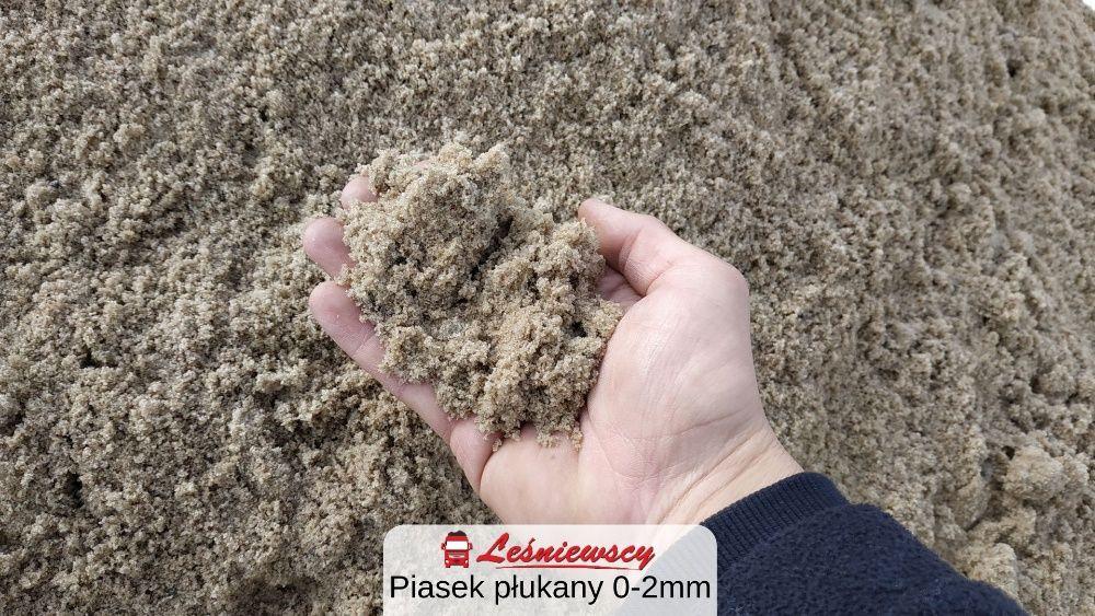 Piasek płukany 0-2 do murowania/pod kostkę-Pleszew/Jarocin i okolice