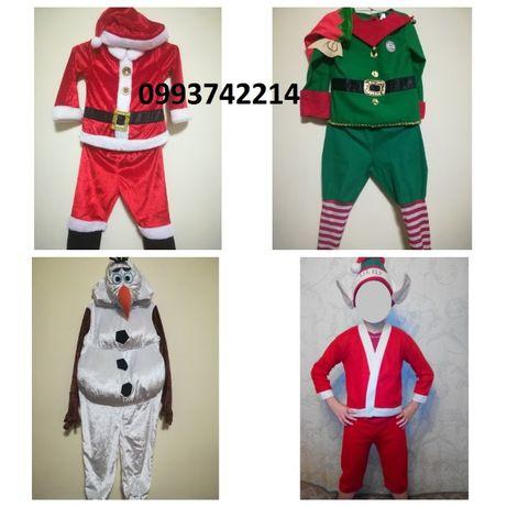 Новогодний костюм эльф гномик санта клаус дед мороз снеговик