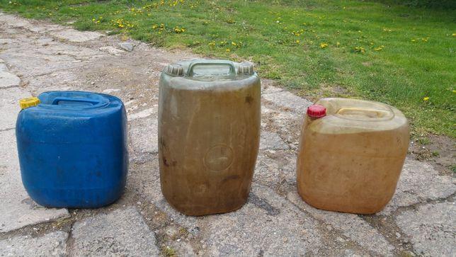 2 Baniaki kanistry na paliwo olej ropę 2x 30l łacznie 60 litrów