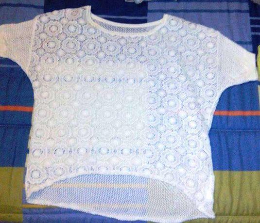 camisola de renda branca