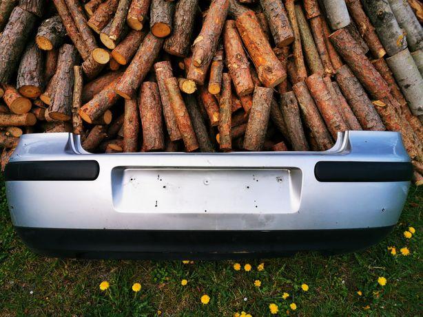 Tylny zderzak i klapa - srebrny VW - LA7W_Volkswagen Golf IV 4 HB