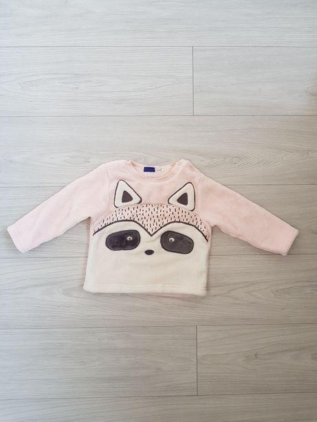 Różowa bluza z szopem Lupilu 86/92