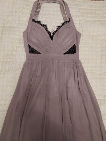 Jane Norman нарядное вечернее выпускное платье цв. пудра р. 42-44