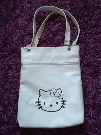 Mala Branca com Alças da Hello Kitty