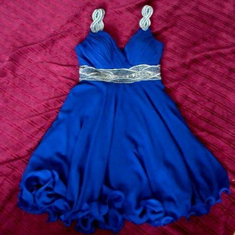 Kobaltowa sukienka wieczorowa
