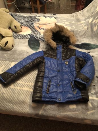 Зимняя теплая куртка ,  9-10 лет, рост 140