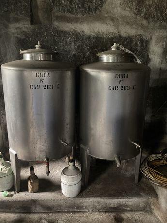 Cubas inox 550L e 2x265L