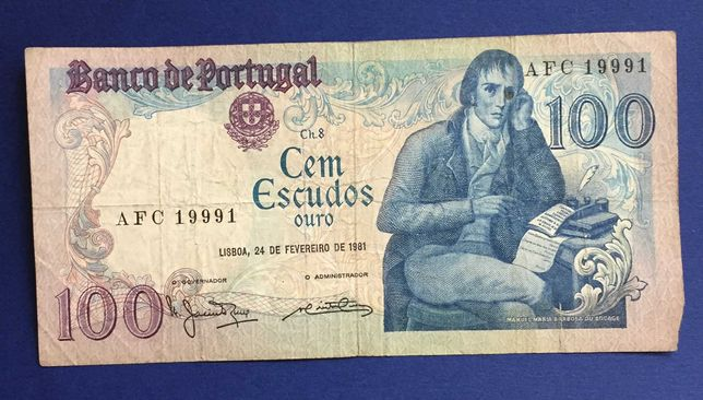 CAPICUA - nota 100 escudos Bocage 1981