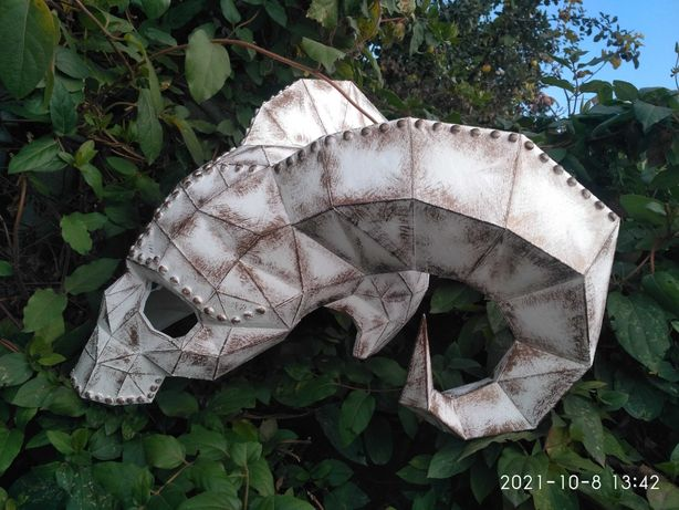 маска Козерог cosplay хэллоуин paperkraft