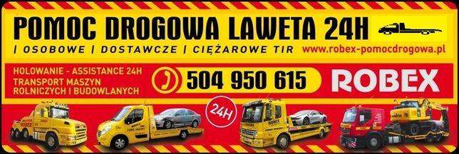 POMOC DROGOWA Holowanie TIR Auto Laweta 24h ROBEX Transport PŁOŃSK