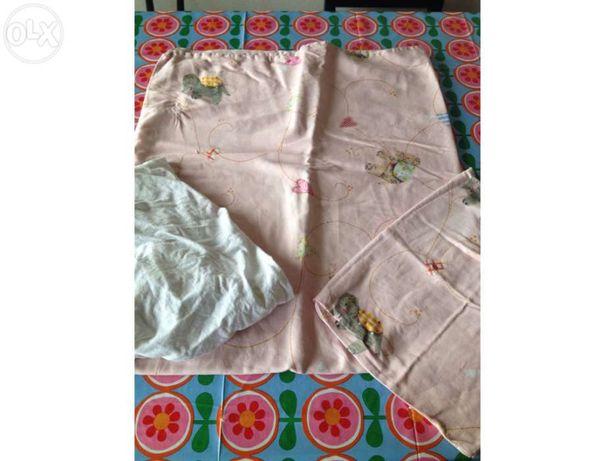 Capa de endredão e lençol cama de grades