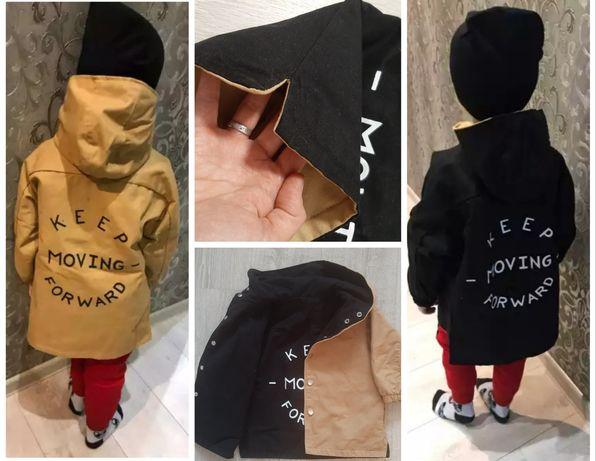 Куртка весняна на хлопчика двохстороння 1-2 роки