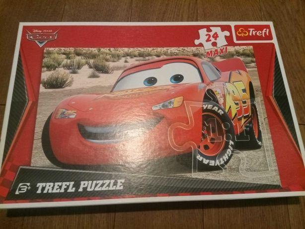 Puzzle Cars Auta maxi 24 elementy Zygzak McQueen