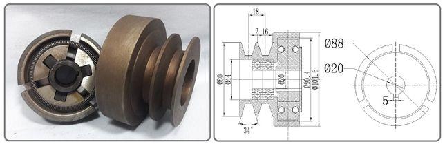 Муфта сцепления со шкивом/вариатор/на двигатель.