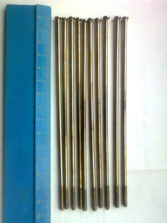 Спицы колесные длиной 145 мм, Ø - 3мм новые,10 штук (СССР)