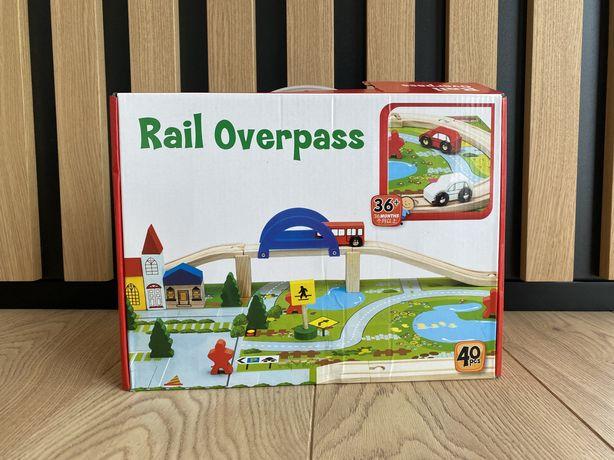 Детская деревянная железная дорога, 40 деталей