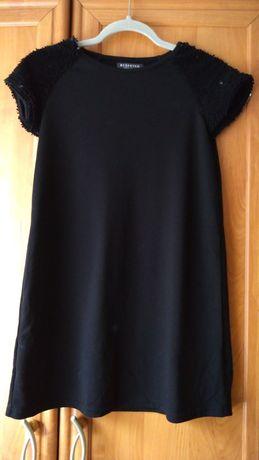 Czarna sukienka,tunika Reserved