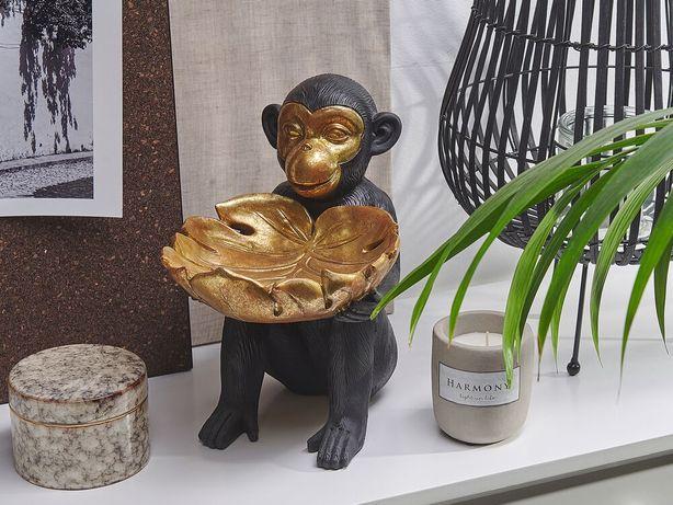 Estatueta decorativa na forma de macaco preta e dourada SOMONE - Beliani
